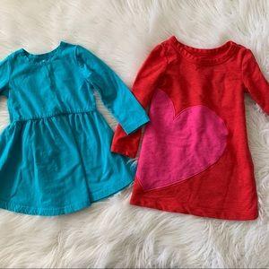 June & January Dress + Cat & Jack Heart Dress -SET